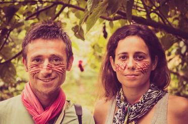 Maquillage indigène en Equateur