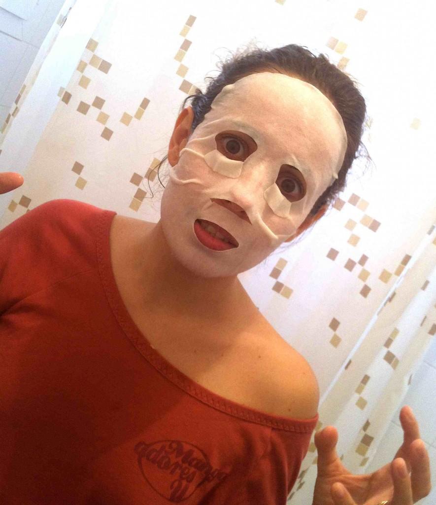 Masque beauté tissu