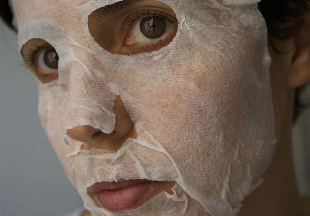 Masque compressé en tissu