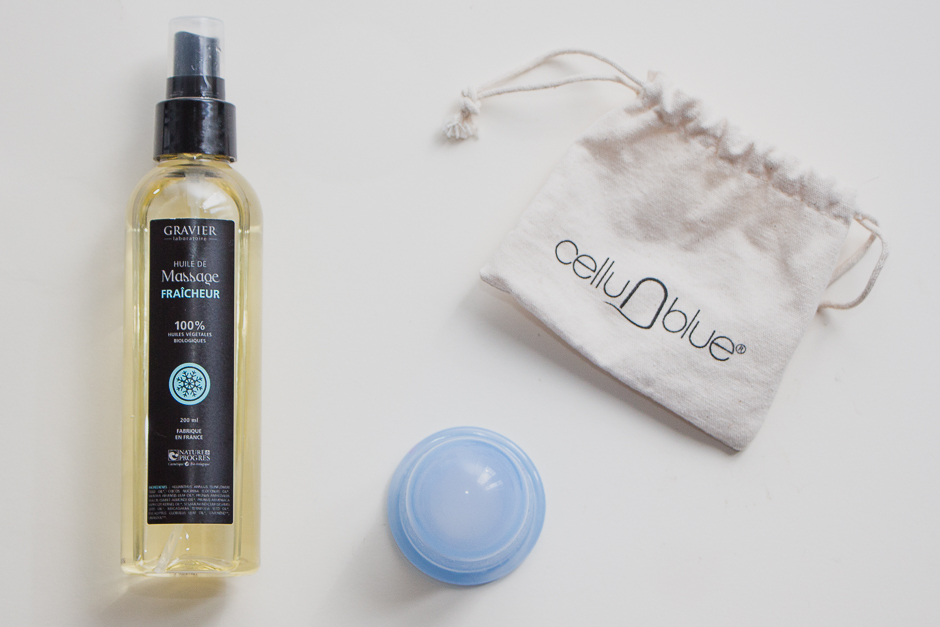 Routine corps bio : CelluBlue et huile de massage bio