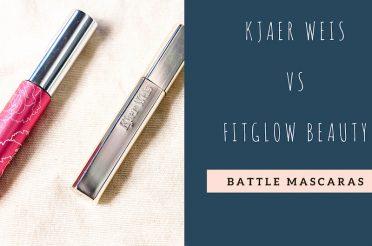 Battle mascara Kjaer Weis vs FitGlow Beauty