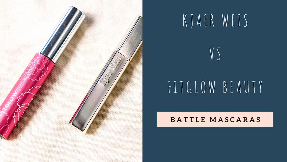 Battle de mascara Kjaer Weis vs Fitglow Beauty