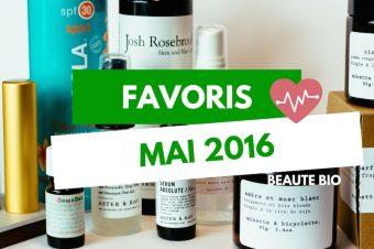 Favoris Beauté Bio Mai 2016