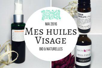 Mes huiles végétales bio / naturelles pour le visage