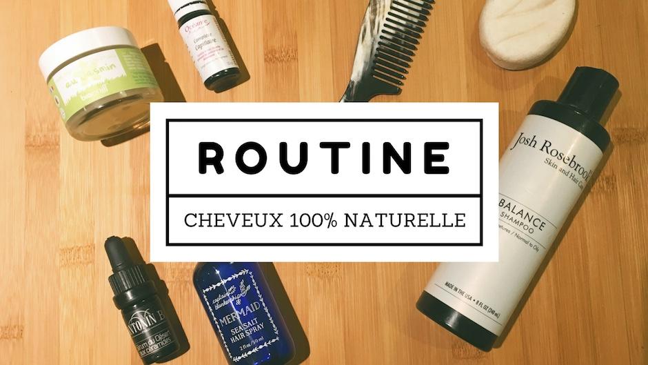 Routine cheveux naturelle, bio