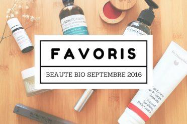 Favoris beauté bio Septembre 2016 sur Youtube