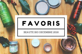Favoris Beauté Bio Décembre 2016 sur Youtube