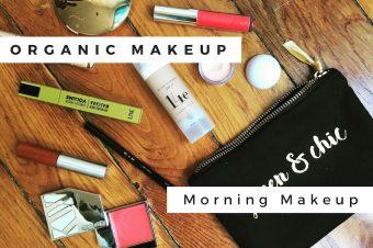 Maquillage bio : liner noir et bouche rouge